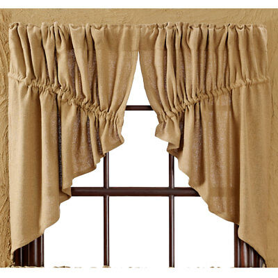 Burlap Natural Prairie Curtains