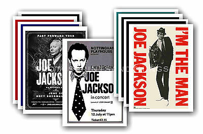 JOE JACKSON - 10 promotional posters  collectable postcard set # 1