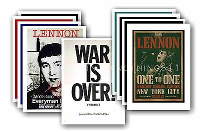 JOHN LENNON - 10 promotional posters  collectable postcard set # 1