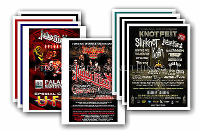 JUDAS PRIEST - 10 promotional posters  collectable postcard set # 2