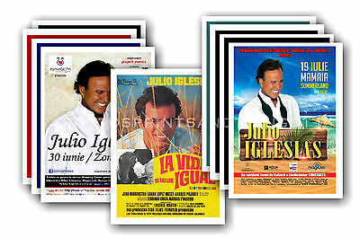 JULIO IGLESIAS - 10 promotional posters  collectable postcard set # 1