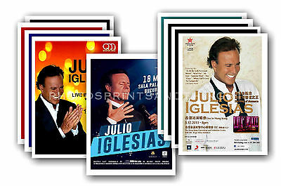 JULIO IGLESIAS - 10 promotional posters  collectable postcard set # 2