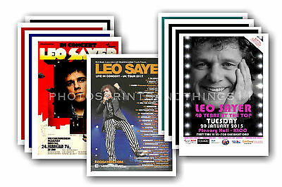 LEO SAYER  - 10 promotional posters  collectable postcard set # 1