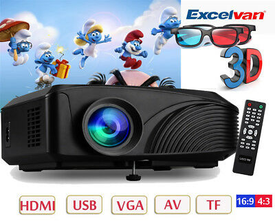 WIFI 5000Lumen 1080P HD PROYECTOR Home Movie HDMI/USB/SD/ATV/AV/VGA PROJECTOR ES