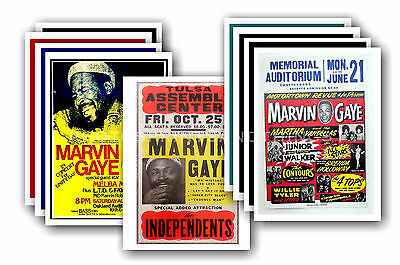 MARVIN GAYE  - 10 promotional posters  collectable postcard set # 1
