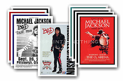MICHAEL JACKSON  - 10 promotional posters  collectable postcard set # 1
