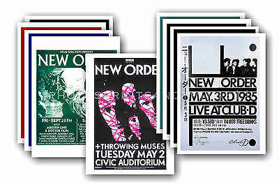 NEW ORDER  - 10 promotional posters  collectable postcard set # 1