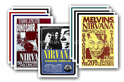 NIRVANA  - 10 promotional posters  collectable postcard set # 1