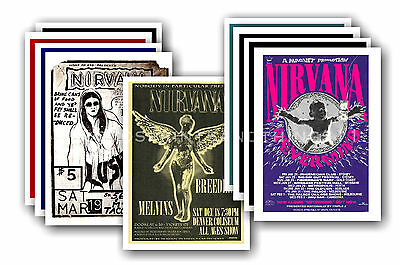 NIRVANA  - 10 promotional posters  collectable postcard set # 2
