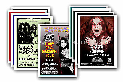 OZZY OSBOURNE  - 10 promotional posters  collectable postcard set # 1