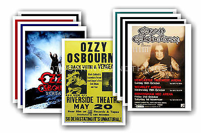 OZZY OSBOURNE  - 10 promotional posters  collectable postcard set # 2
