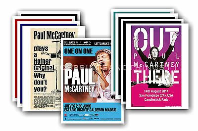 PAUL McCARTNEY  - 10 promotional posters  collectable postcard set # 1