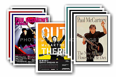 PAUL McCARTNEY  - 10 promotional posters  collectable postcard set # 3