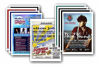 PAUL YOUNG  - 10 promotional posters  collectable postcard set # 1