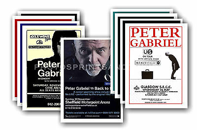 PETER GABRIEL  - 10 promotional posters  collectable postcard set # 1