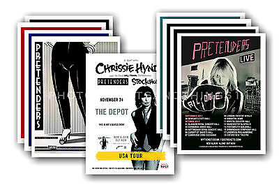 PRETENDERS  - 10 promotional posters  collectable postcard set # 1