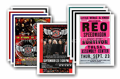 REO SPEEDWAGON  - 10 promotional posters  collectable postcard set # 1