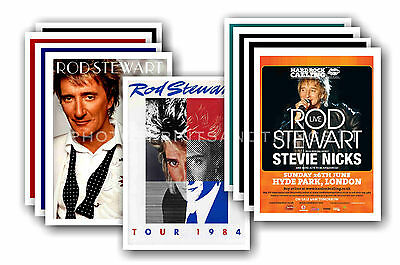 ROD STEWART  - 10 promotional posters  collectable postcard set # 1