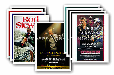 ROD STEWART  - 10 promotional posters  collectable postcard set # 2