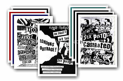 SEX PISTOLS  - 10 promotional posters  collectable postcard set # 2