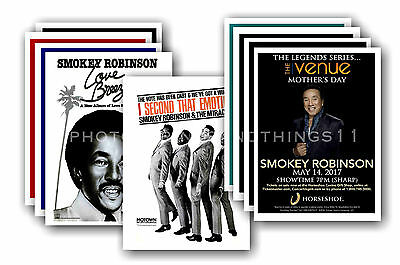 SMOKEY ROBINSON  - 10 promotional posters  collectable postcard set # 1