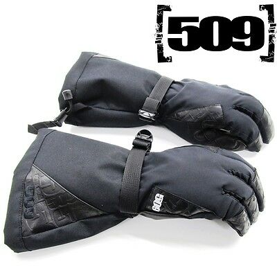 509 Men's Backcountry Waterproof Thinsulate Insulated Snowmobile Gloves - Black