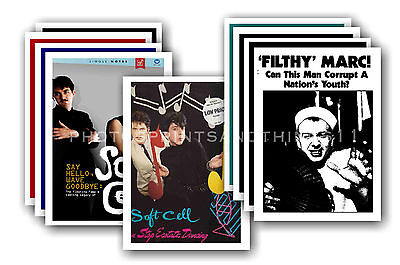 SOFT CELL  - 10 promotional posters  collectable postcard set # 1
