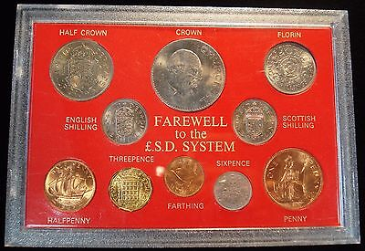Great Britain Farewell To £Sd System 10 Coin Pre-Decimal Old Money Gift Set