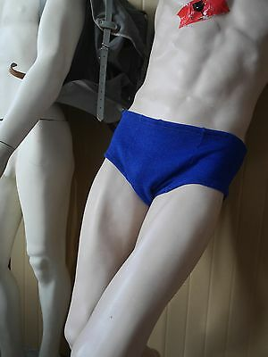 Badehose Bademoden D9  XXL blau 70er lurex Glam 70s True VINTAGE Swimming Trunks