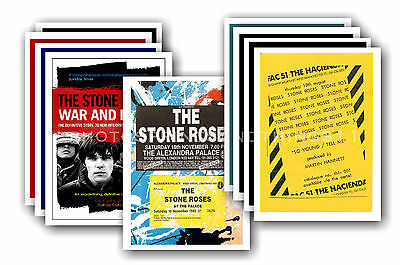 STONE ROSES - 10 promotional posters  collectable postcard set # 1