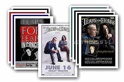 TEARS FOR FEARS - 10 promotional posters  collectable postcard set # 1