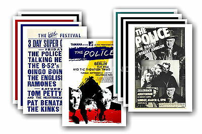 THE POLICE - 10 promotional posters  collectable postcard set # 1
