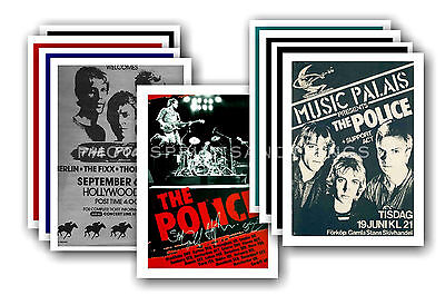 THE POLICE - 10 promotional posters  collectable postcard set # 2