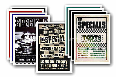 THE SPECIALS - 10 promotional posters  collectable postcard set # 2