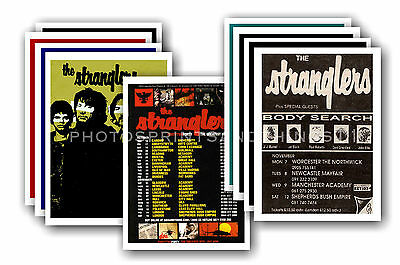 THE STRANGLERS - 10 promotional posters  collectable postcard set # 1