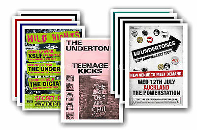 THE UNDERTONES - 10 promotional posters  collectable postcard set # 1