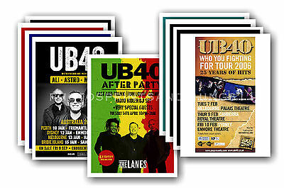 UB40 - 10 promotional posters  collectable postcard set # 2