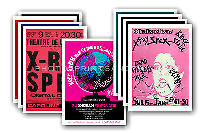 X RAY SPEX - 10 promotional posters  collectable postcard set # 1