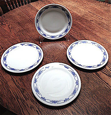 "Vintage Set  Of (4) Shenango Restaurant Ware China Plates  - 8"" Plates"