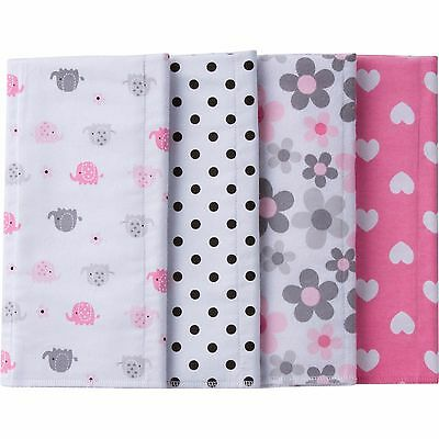 Gerber Flannel Burp Cloths - 4 Pack