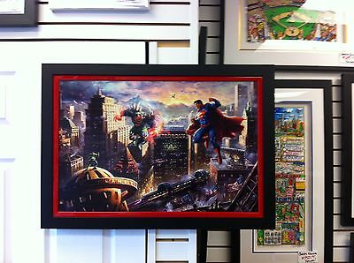 "Thomas Kinkade "" Superman - Man of Steel ""Signed & Numbered Canvas ! DC Comics"