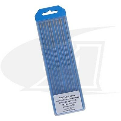 Wolfram 1.5% Lanthanated Tungsten Electrodes Made In Germany: 1/4' (6.35mm)
