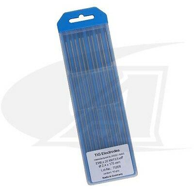 Wolfram® 2% Lanthanated Tungsten Electrodes Made In Germany: 3/16' (4.8mm) x