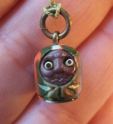 VINTAGE Celluloid Japanese KOBE Charm POP OUT EYES Swirled Colors