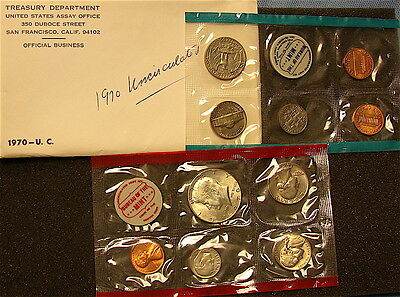 1970-D United States U.S. Mint Uncirculated Coin Set~~FREE Ship
