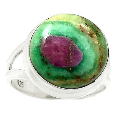 Ruby In Fuchsite 925 Sterling Silver Ring Jewelry s.7 RR55019