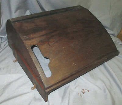 Antique Oak Singer Treadle Sewing Machine Cabinet Dust Cover Belly Pull Out