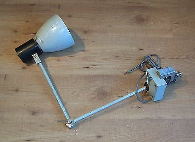 Vintage Industrial Factory Angled Clamp on Machine Light Bench Lamp Sewing