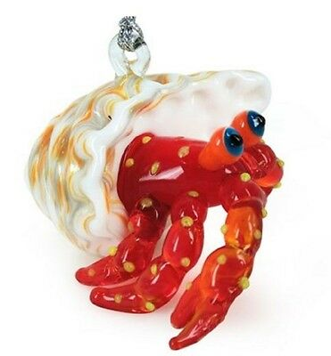 Glassdelights Hermit Crab Glass Christmas Tree Ornament Sea Life Decoration New