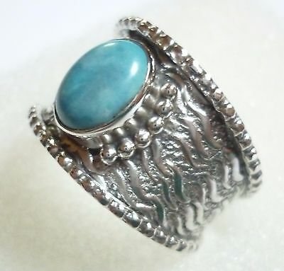 Size US 8 (P 1/2) 925 Sterling Silver Natural Sleeping Beauty Turquoise Ring